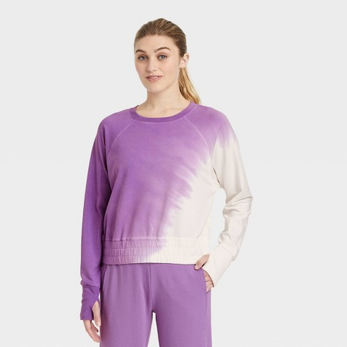 Women's French Terry Tie-Dye Pullover - JoyLab™ - image 1 of 2