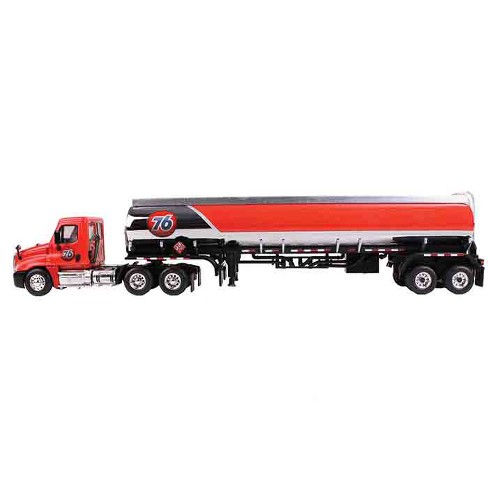 Freightliner Cascadia with 42' 76 Fuel Tanker 1/64 Diecast Model by First  Gear