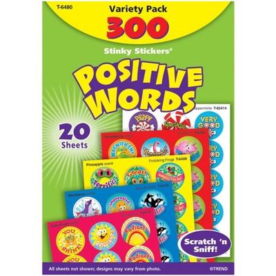 Trend Enterprises Stinky Sticker, Positive Words Stickers, 1 in, pk of 300