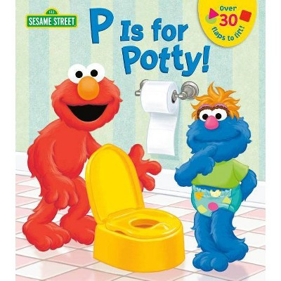 P Is for Potty! -  (Sesame Street Board Books) by Lena Cooper (Hardcover)