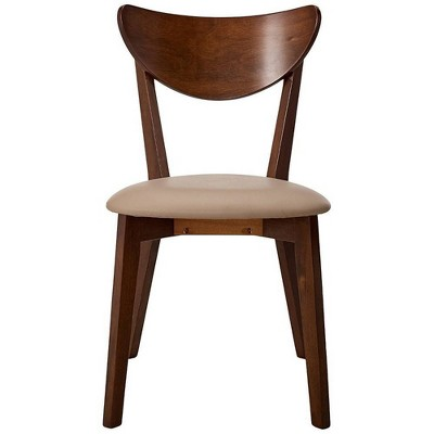 2pc Wooden Dining Side Chair Camel - Benzara