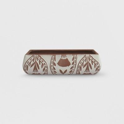 13  x 3  Rectangular Textured Pattern Planter Terracotta - Opalhouse™