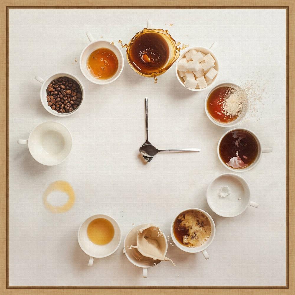 16 34 X 16 34 It 39 S Always Coffee Time By Dina Belenko Framed Canvas Wall Art Amanti Art