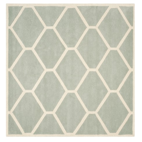 Gray/Ivory Honeycomb Tufted Square Area Rug 7'X7' - Safavieh - image 1 of 1