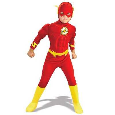 Rubies DC Comics The Flash Muscle Chest Deluxe Children's Costume (XL 14-16)