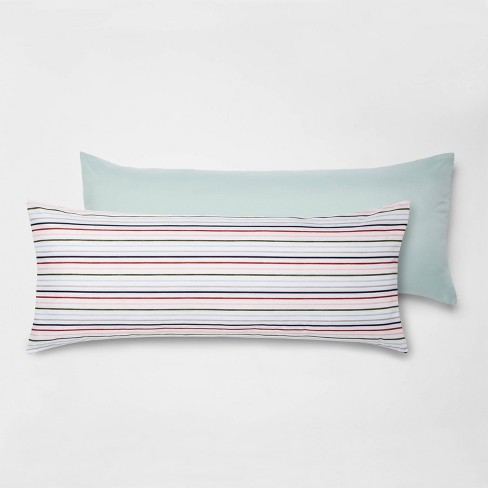 2pk Printed Pattern Body Pillow Cover Multi Stripe - Room Essentials™ - image 1 of 2
