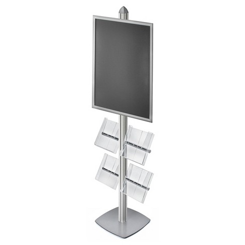 "Azar® Sky Tower Display Kit with 22"" x 28"" Snap Frame and Four Acrylic Brochure Side Pockets - image 1 of 1"
