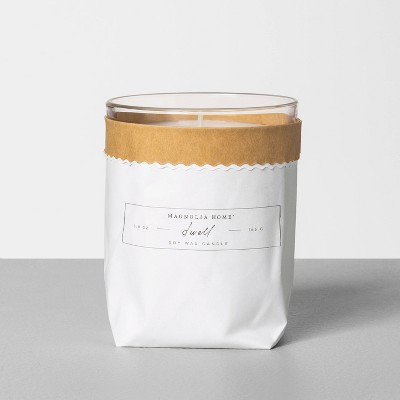 5.8oz Bagged Glass Jar Candle Dwell - Magnolia Home by Joanna Gaines
