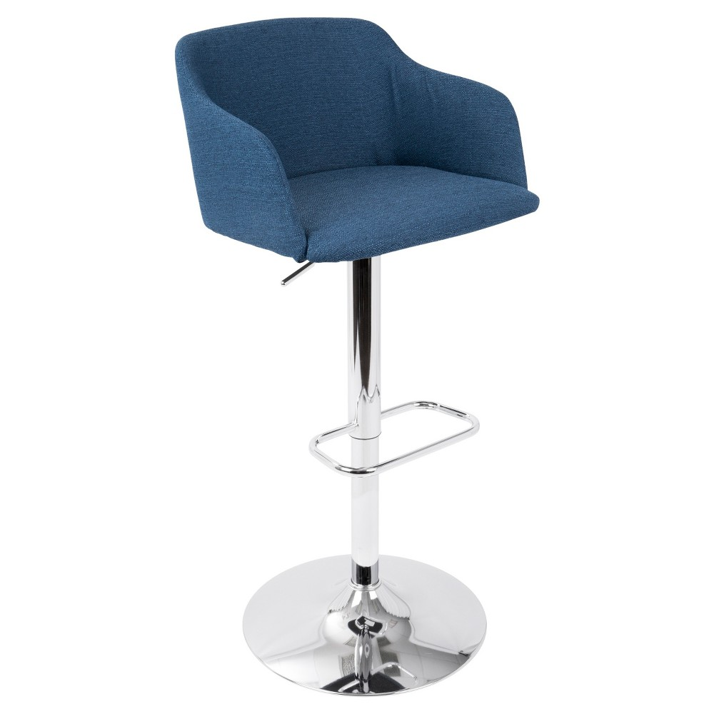 Outstanding Daniella Contemporary Adjustable Barstool Blue Lumisource Pdpeps Interior Chair Design Pdpepsorg