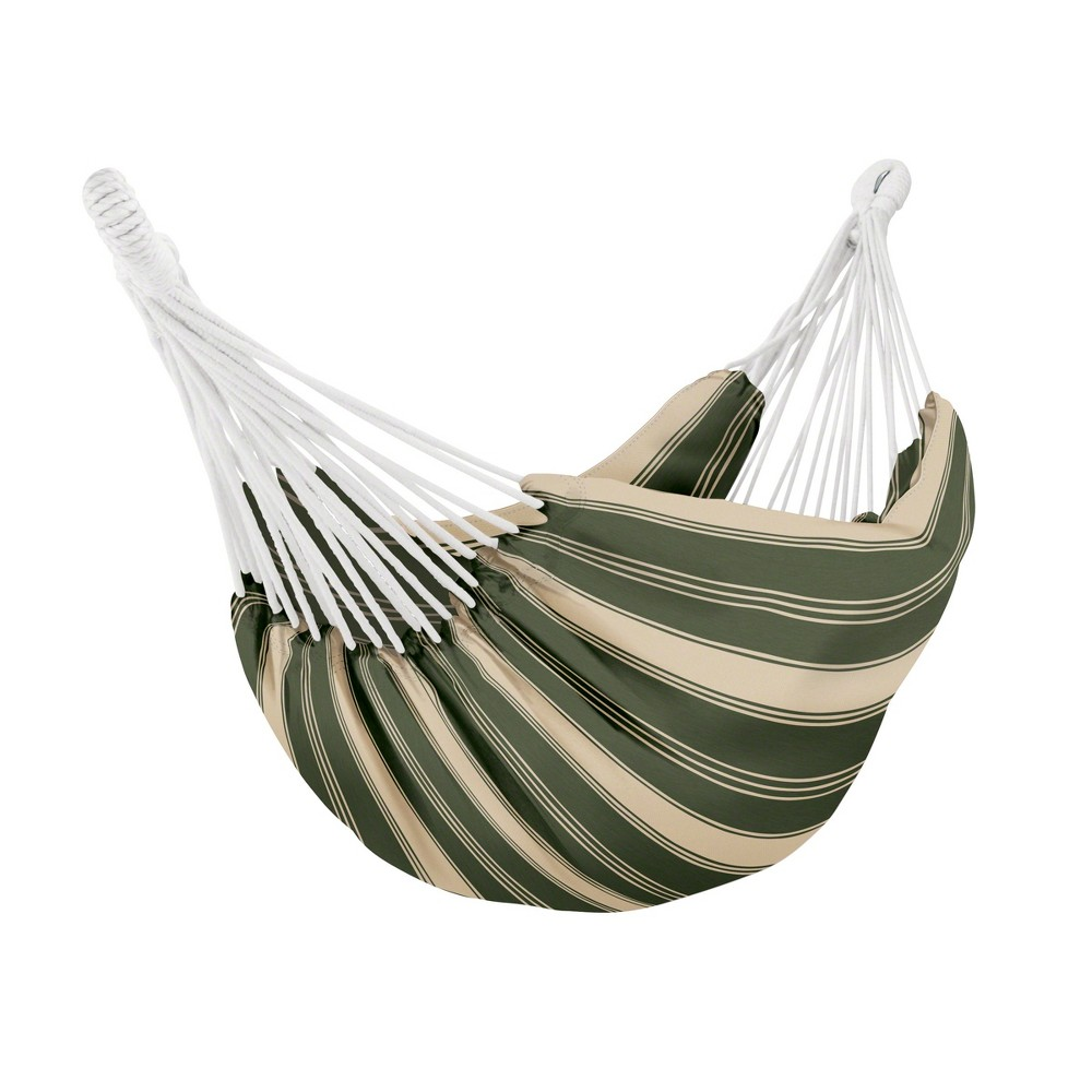 Image of Fadesafe Brazilian Hammock - Heather Fern Green Stripe - Classic Accessories Montlake