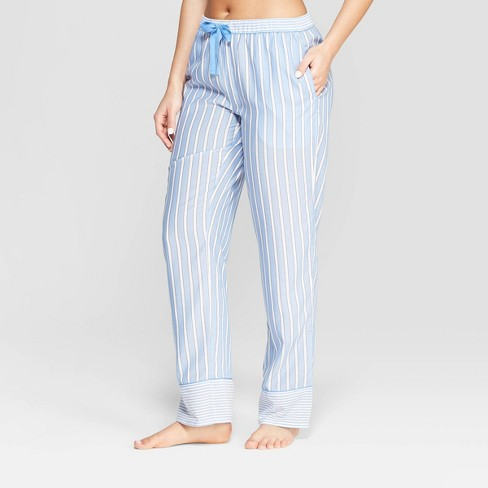 Women's Striped Simply Cool Pajama Pants - Stars Above™ Blue - image 1 of 2
