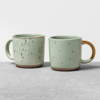 Mug Set of 2 - Speckled - Green - Hearth & Hand™ with Magnolia