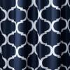 Geo Shower Curtain Navy - Lush Dcor - image 2 of 2