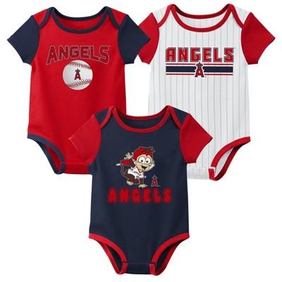 MLB Los Angeles Angels Baby Boys' 3pk Bodysuit Set