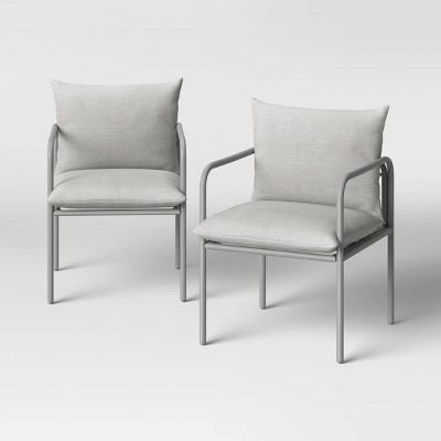 Timo 2pk Knife Edge Metal Patio Dining Chairs - Project 62™