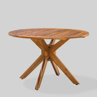 Stamford Round Acacia Wood Dining Table - Christopher Knight Home