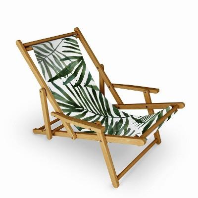 Marta Barragan Camarasa Watercolor Simple Leaves Sling Chair - Deny Designs