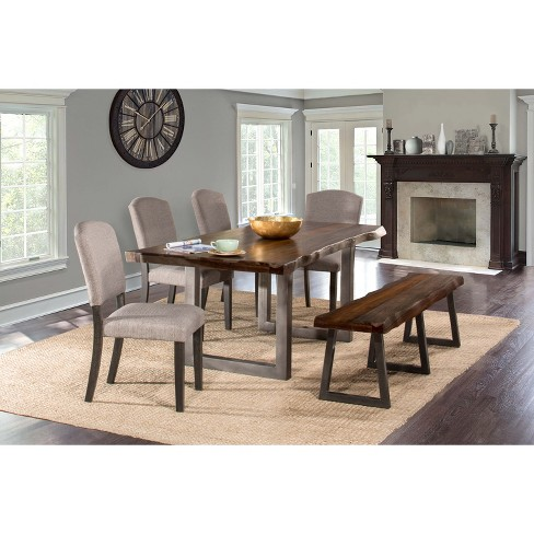 6pc Emerson Rectangle Dining Set Gray - Hillsdale Furniture - image 1 of 4