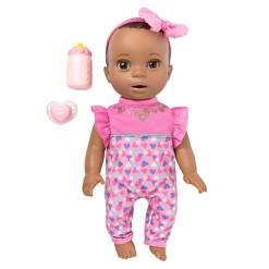 Luvabella Newborn Interactive Baby Doll - Dark Brown Hair