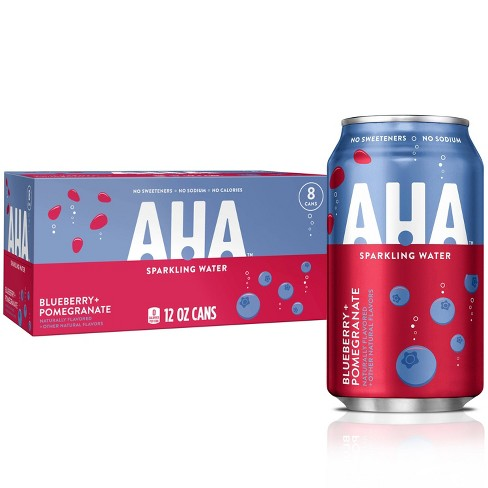 AHA Blueberry + Pomegranate Sparkling Water - 8pk/12 fl oz Cans - image 1 of 3