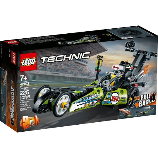 LEGO Technic Dragster 42103 Pull-Back Racing Toy Building Kit image number null