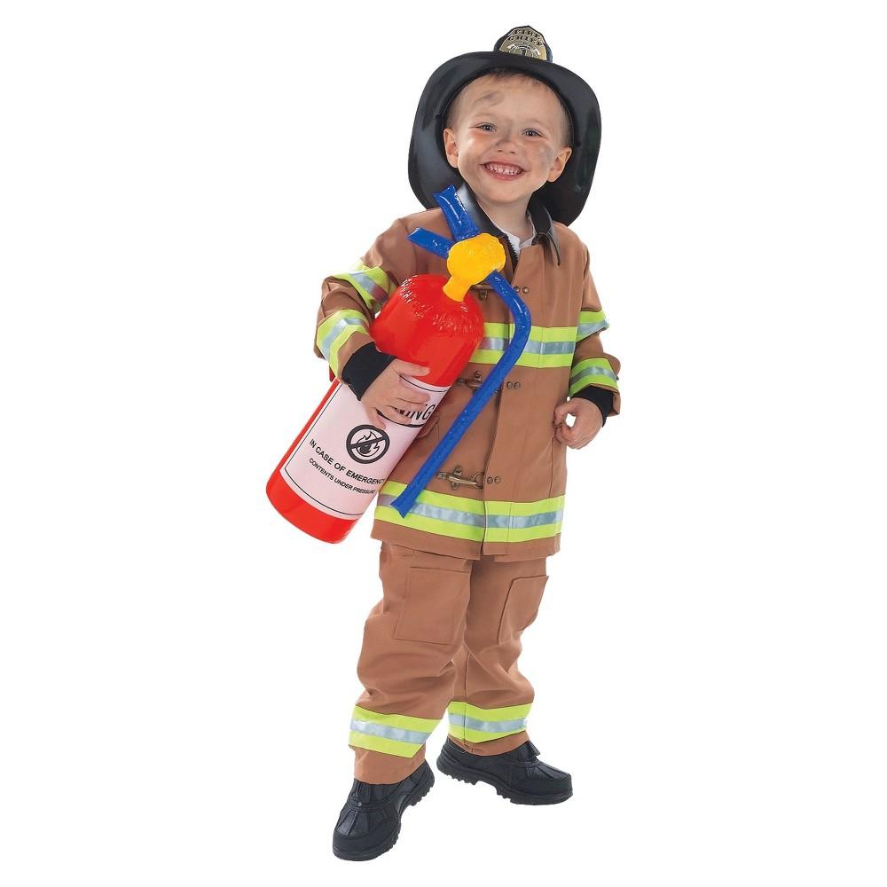 Kids' Toddler Firefighter Costume M(8-10), Toddler Boy's, Tan