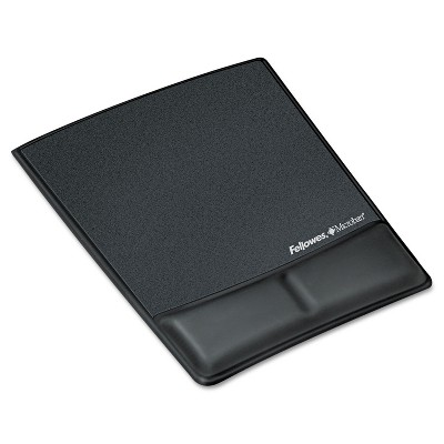 Fellowes Memory Foam Wrist Rest w/Attached Mouse Pad Black 9180901