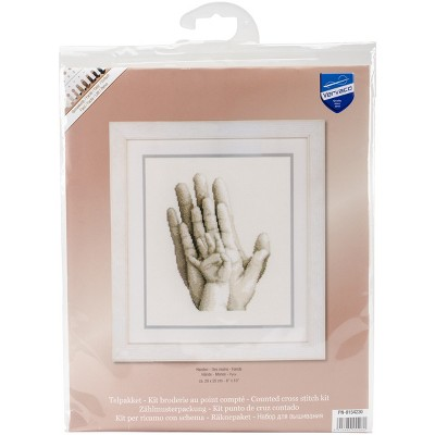"""Vervaco Counted Cross Stitch Kit 8""""X10""""-Hands On Aida (14 Count)"""