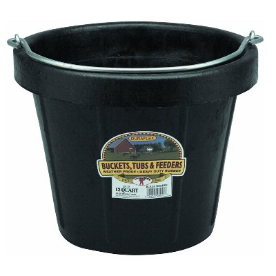 Little Giant 12-Quart Flexible All-Purpose Rubber Bucket Pail with Steel Handle