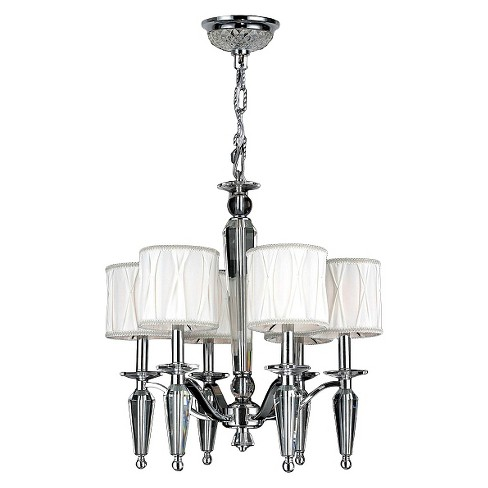 "World Wide Lighting Ceiling Light - Silver/White (20 X 20 X 15"") - image 1 of 1"
