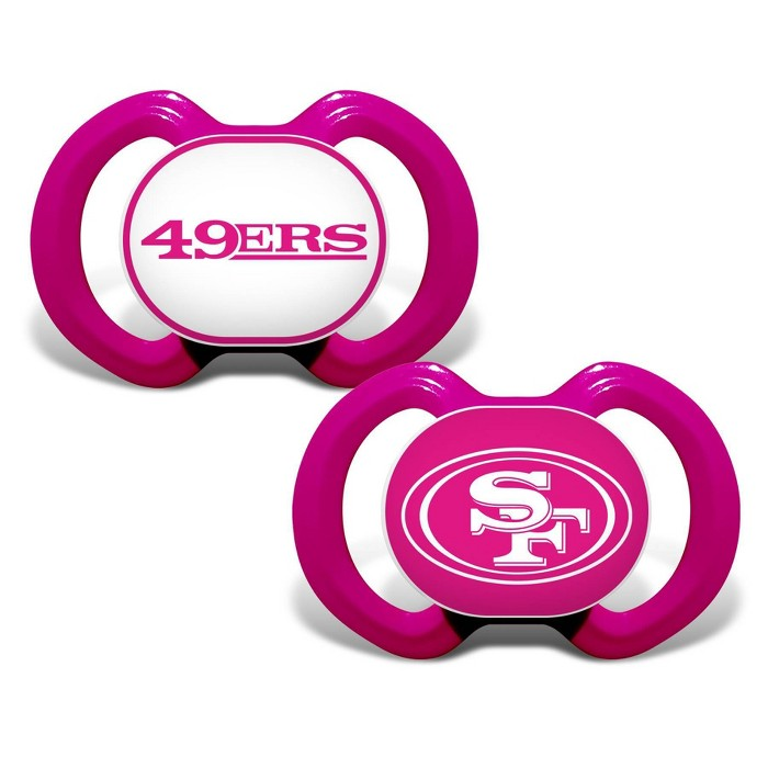 NFL San Francisco 49ers Pink Pacifiers 2pk - image 1 of 1