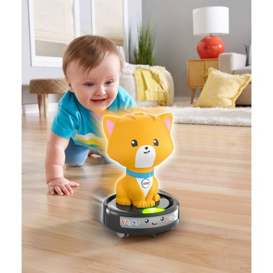 Fisher-Price Laugh & Learn Crawl-after Cat on a Vac image number null