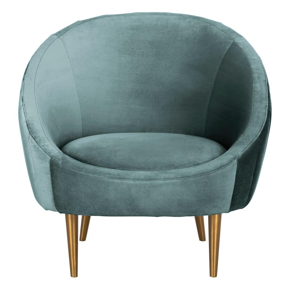 Razia Channel Tufted Tub Chair Sea Foam (Blue) - Safavieh