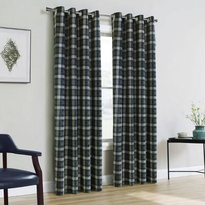 Murano Room Darkening Grommet Curtain Panel Blue/White - Thermalogic
