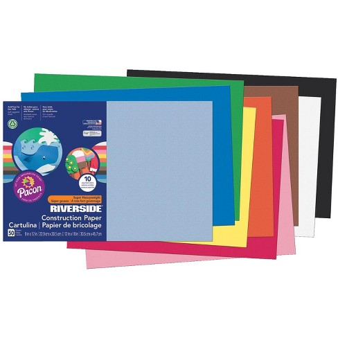 Riverside 3D Construction Paper, 12 x 18 Inches, Assorted Colors, pk of 50 - image 1 of 1
