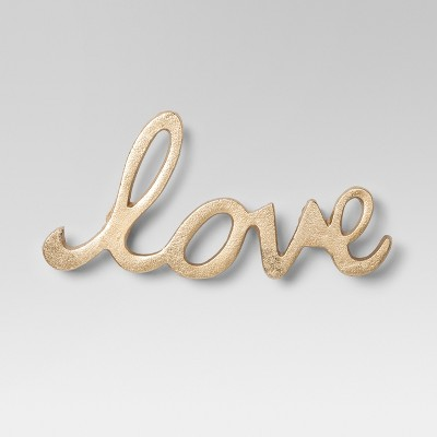Love Decorative Wall Sculpture Gold 9 x5  - Project 62™