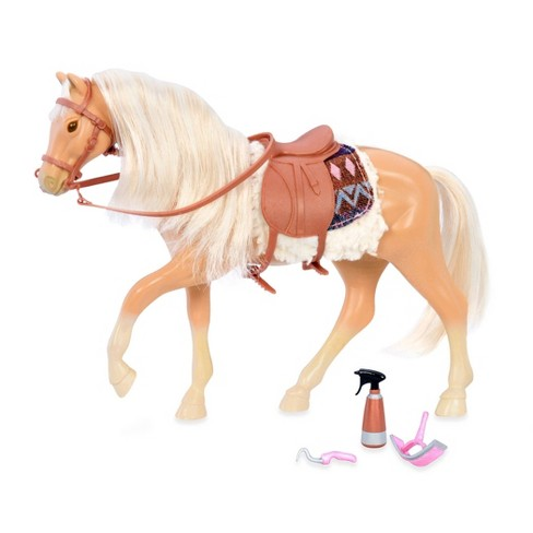 Lori Doll Horse with Accessories - American Quarter Horse Caramel - image 1 of 3