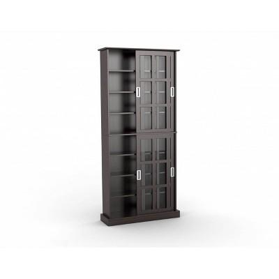 Windowpane Multimedia Storage Cabinet Espresso - Atlantic