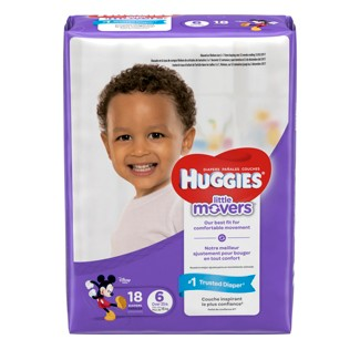 Huggies Little Movers Diapers Jumbo Pack - Size 6 (18ct)