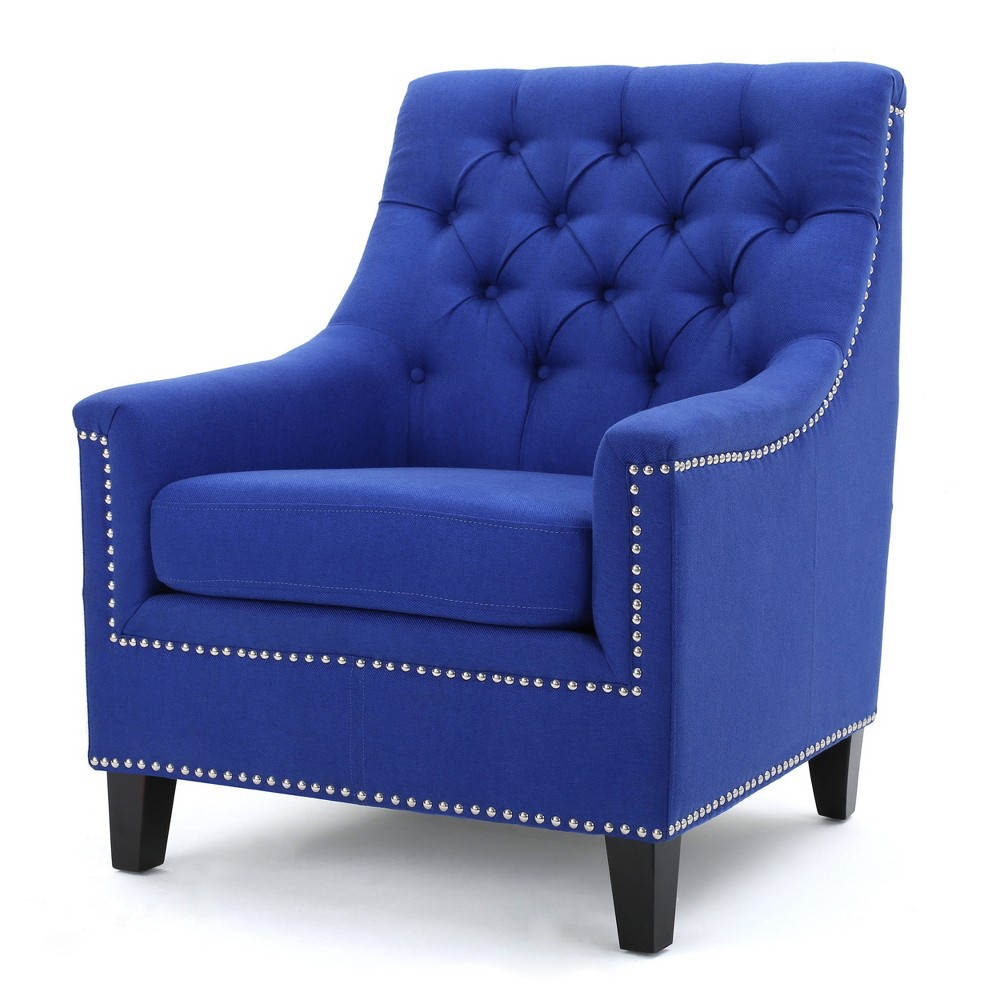 Jaclyn Tufted Club Chair - Navy (Blue) - Christopher Knight Home
