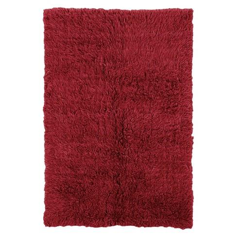 100 New Zealand Wool Flokati Area Rug Red 5x8 Target