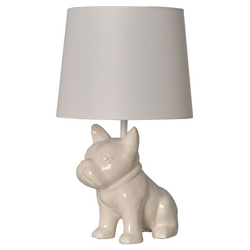 Bulldog Table Lamp White - Pillowfort™ - image 1 of 1