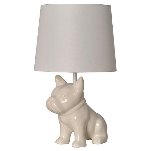Bulldog Table Lamp White - Pillowfort™ - image 1 of 1
