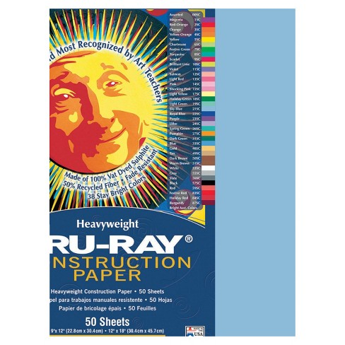 Tru-Ray Sulphite Construction Paper, 12 x 18 Inches, Sky Blue, 50 Sheets - image 1 of 1