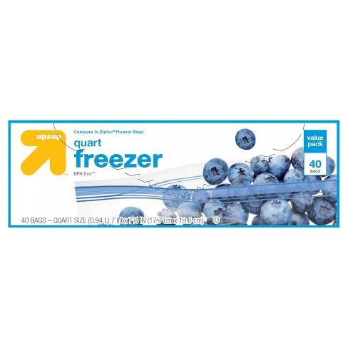 Quart Freezer Bags 40ct - Up&Up™ - image 1 of 1