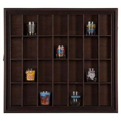 Shadow Box Shot Glass Case - Walnut