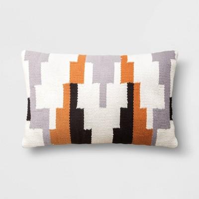 Geometric Patterned Lumbar Throw Pillow - Project 62™