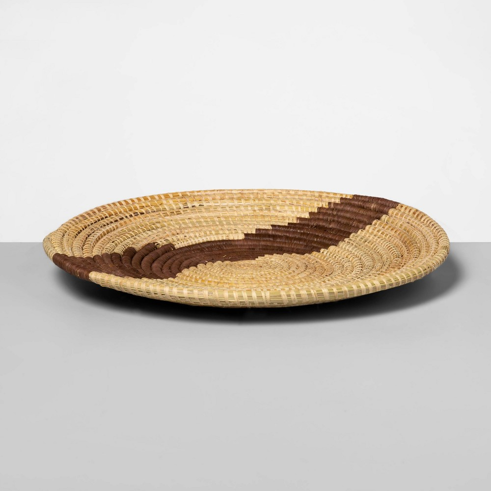 "Image of ""15"""" x 2.2"""" Hand Woven Raffia Bowl Brown - All Across Africa for Opalhouse , Beige"""