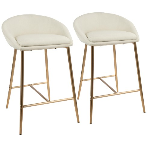 """Set of 2 26"""" Matisse Glam Counter Height Barstools - LumiSource - image 1 of 4"""