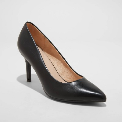 Women's Gemma Pointed Toe Heels - A New Day™ Black